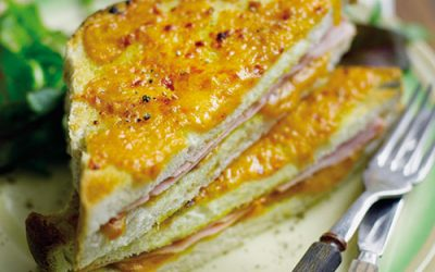 Red Leicester & Sweet Pickle Croque Monsieur